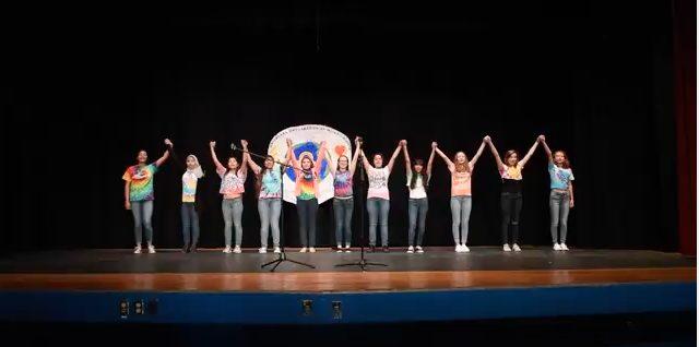 final scene of Arroyo High School presentation