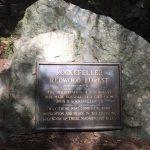 Plaque for Rockefeller forest