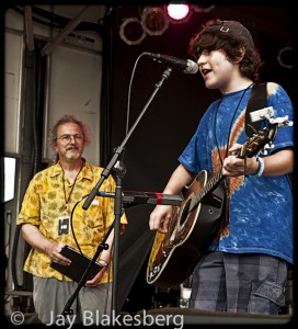 David Gans and Henry Sidle at Gathering of the Vibes, 2011 ©Jay Blakesberg