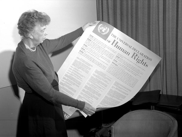 Eleanor Roosevelt with UDHR