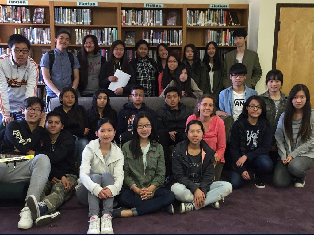High school class at Balboa High School, San Francisco