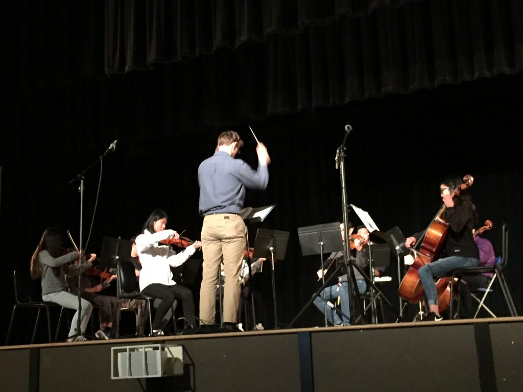 Balboa High School orchestra plays medley from Wicked