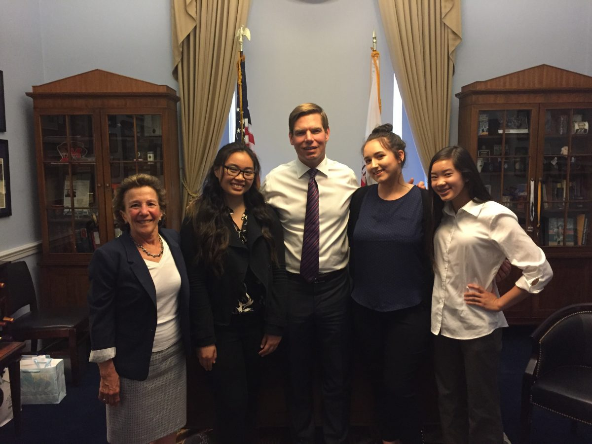 Sandy Sohcot with Future Leaders and Congressman Eric Swalwell