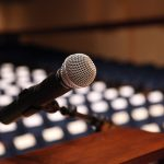 microphone on podium