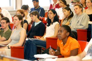 College students in class - Creative Commons
