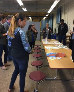 Participants in Summer Institute look at Signs of Human Rights