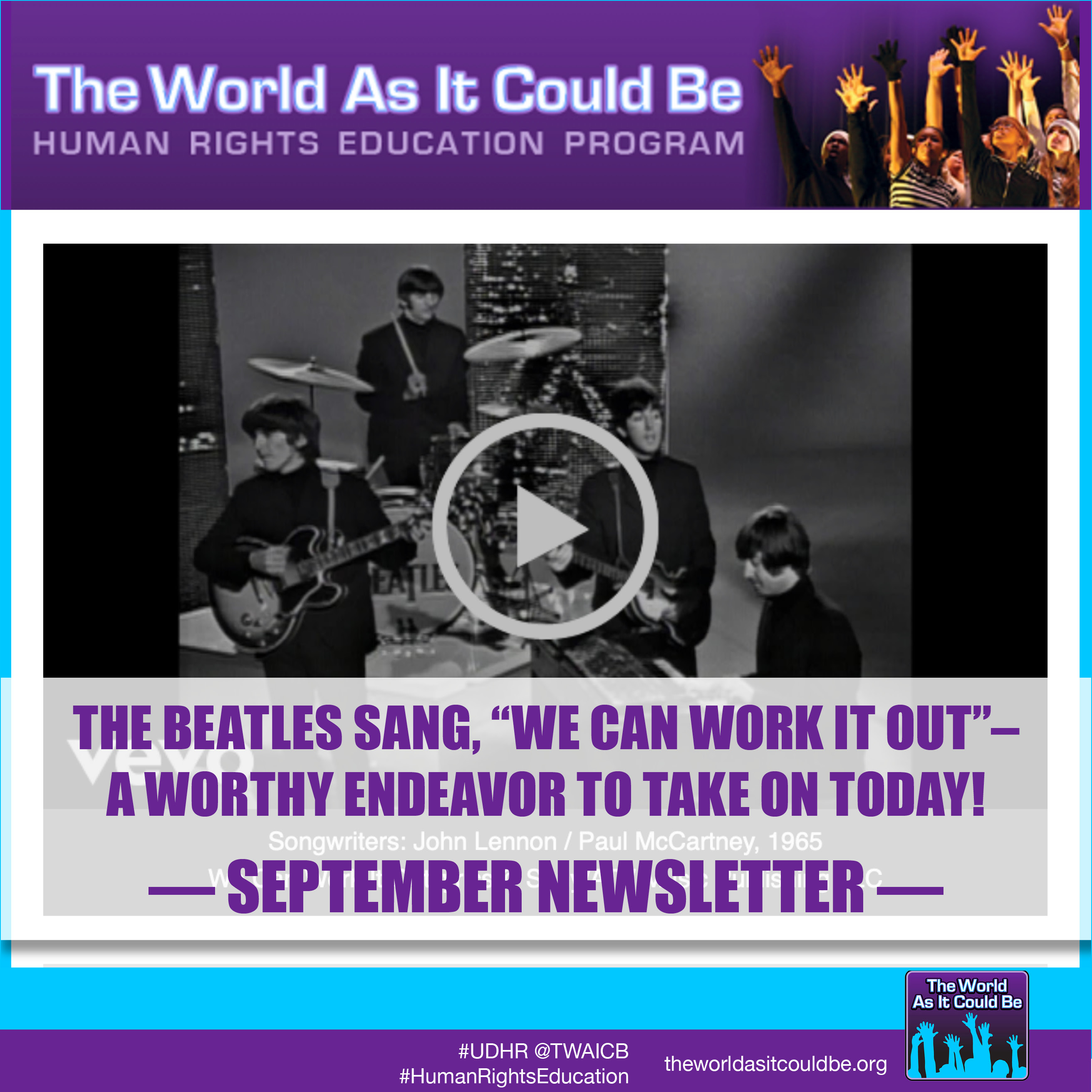 "The Beatles sang, ""We Can Work It Out"" – A worthy endeavor to take on today!"