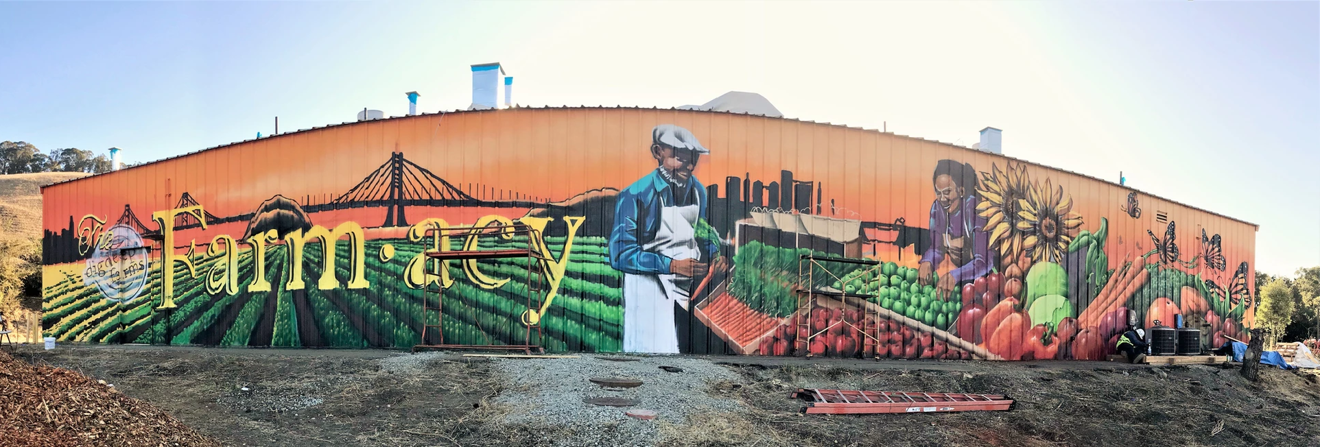 Alameda County's newest public mural, Farmacy