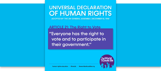 Teaching Guide on the Right to Vote and Participate in One's Government
